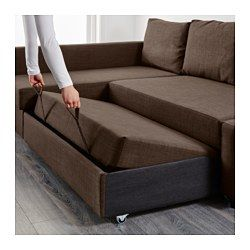 Friheten Sleeper Sectional 3 Seat W Storage Skiftebo Dark Gray