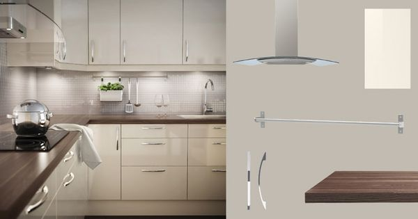 faktum kitchen with abstrakt yellow white high gloss doors drawers and pr gel walnut effect. Black Bedroom Furniture Sets. Home Design Ideas