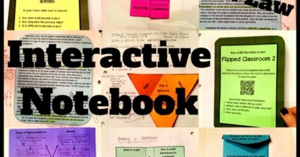 SS Interactive Notebook: How a Bill Becomes A Law.... 8 ...
