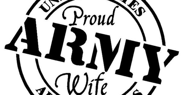 Army Wife Decal Proud Army Wife Die Cut Vinyl Decal For