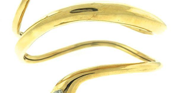 Tiffany & Co. Donald Claflin Upper Arm Serpent Bangle Bracelet. Designed by