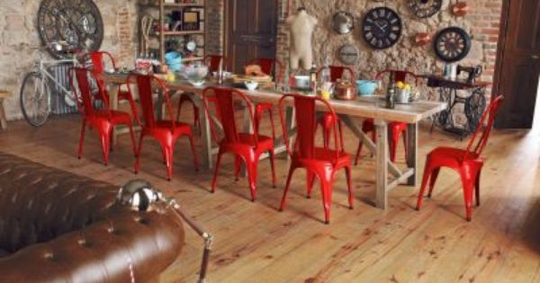 CHIC - distressed wood & metal furniture Valencia 7-Piece Dining Set ...