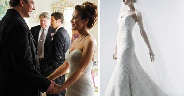 Wedding dress of Alyssa Milano in Castle (season 2), Oleg ...
