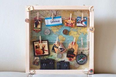 Bei Diesem Reisegutschein Packt Mich Gleich Das Fernweh Die Koffer Sind Schon Gepackt Ein Weltkarte Und Ein Reisegutschein Reisegutschein Basteln Gutscheine