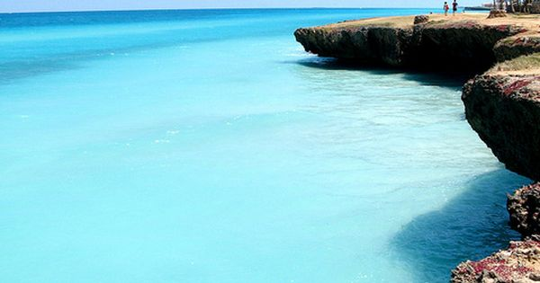 An entrancingly peaceful, gorgeously blue sea in Varadero, Cuba. ocean sea beach
