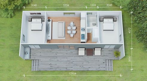 Modular Kit Home Floor Plan With Dimensions With Images