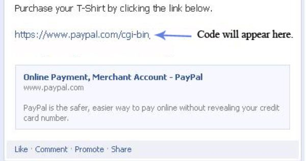 How To Add A Paypal Button Link To Your Facebook Page Coding Ads Credit Card Numbers
