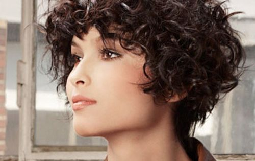 Short Hairstyles For Round Faces And Extreme Curly Cool Amp Trendy Short Hairstyles 2014