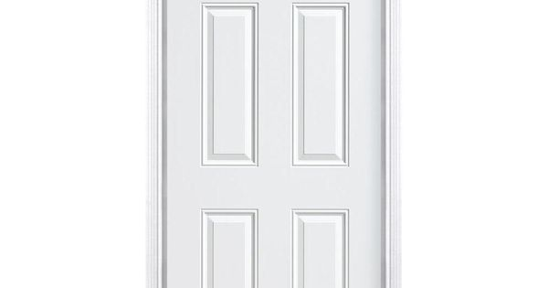Masonite 6-Panel Primed Smooth Fiberglass Entry Door With