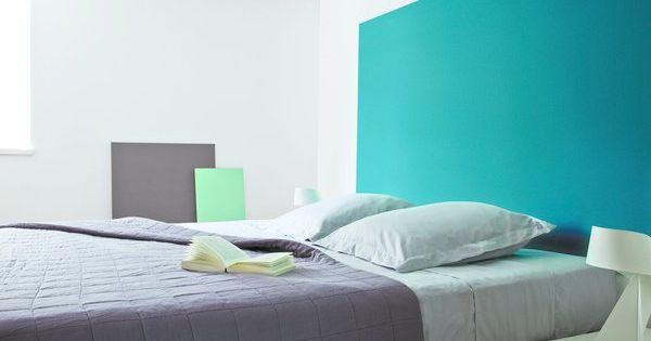 Bleu turquoise peinture recherche google id e maison for Peinture chambre bleu canard