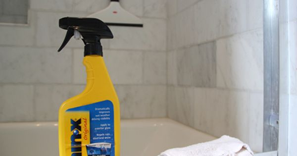 rainx- on your shower doors and tile. Water runs off and does