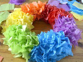 Rainbow Wreath Diy Craft Rainbow Wreath Rainbow Wreath Diy Paper Wreath Diy