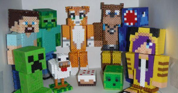 Custom Minecraft Perler Bead Figurines
