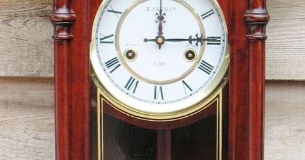 ornate kassel 31 day cherry wood wall clock pendulum chime