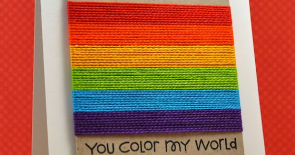 you color my world - rainbow card