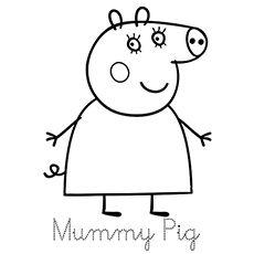 Top 35 Free Printable Peppa Pig Coloring Pages Online | Peppa pig ...