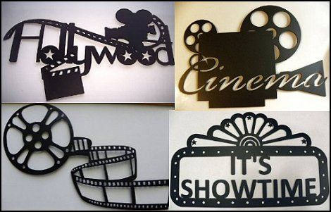Decorate The Home Cinema Walls With Fun Movie Themed Metal Wall