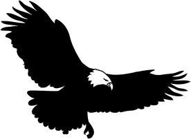 27++ Flying eagle clipart black and white ideas