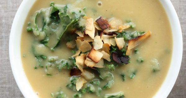 Kale, Parsnip soup and Kale soup on Pinterest
