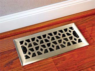 4 X 10 Steel Floor Register From Accord Air Vents Floor Registers Flooring Lake House Furniture