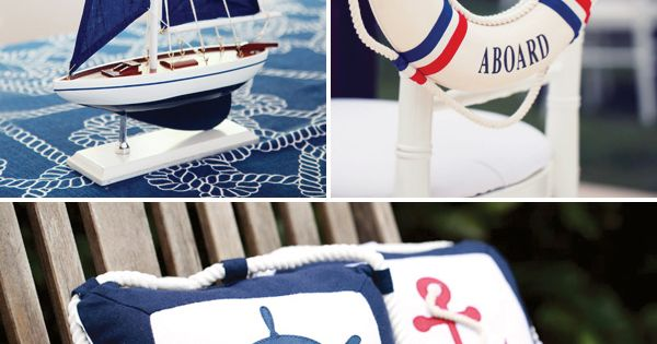 Nautical Party Decorations | Rustic & Elegant Nautical Baby Shower // Hostess