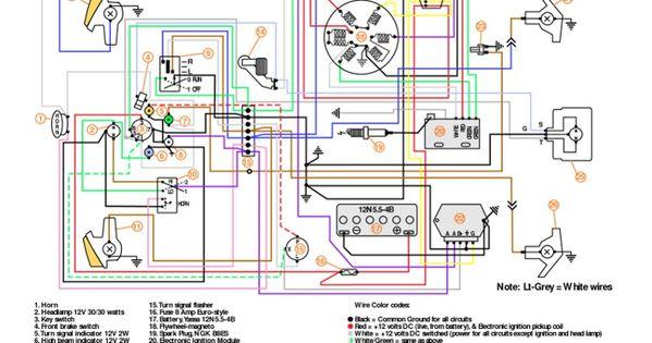 1980 vespa p200 witth a battery wiring diagram | Modern Vespa : P200 Turn  Signal Buzzer? photo request | Vespa, Vespa p200e, Vespa px | 1980 Vespa P200e Wiring Diagram |  | Pinterest