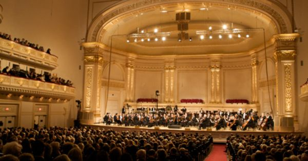 Carnegie Hall Seating Chart