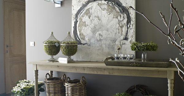 Landelijk house ideas pinterest landelijk wonen huiskamer en interieur - Deco entreehal ...
