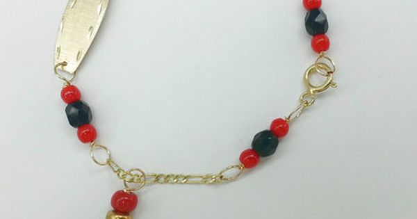 Azabache Gold Bracelet For Babies Protection From Evil