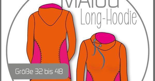 ebook malou damen long hoodie schnittmuster und. Black Bedroom Furniture Sets. Home Design Ideas