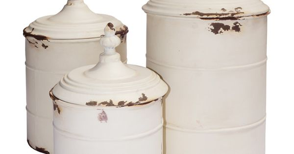 3 piece lucia canister set country charm on wayfair in for Hearth and home designs canister set