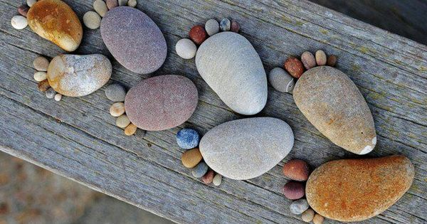Garden Rock Feet... This would be so cute, with a wood sign
