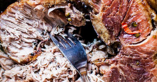 Paule de porc marin e et confite au four r sultat - Cuisiner epaule de porc ...