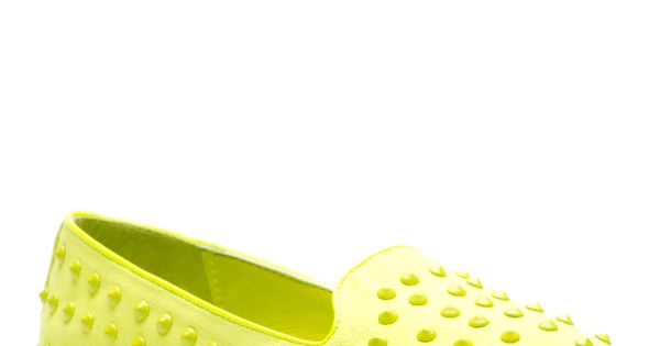 neon yellow Nidah loafers
