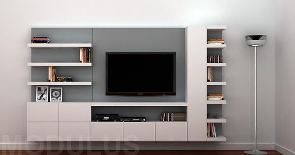 Modulares para living tv lcd led wall unit muebles for Muebles de living modernos en cordoba