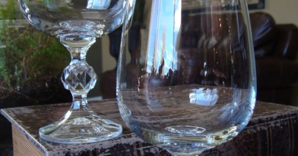 set of 8 crystal wine glasses with facet cut ball stem knob stem wedding holiday table tycaalak