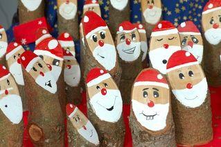 Weihnachtsmann Baumstamm Nikolaus Aus Holz 4