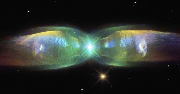 White dwarf butterfly nebula