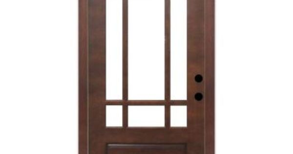 Front door steves sons craftsman 9 lite prefinished - Prefinished mahogany interior doors ...
