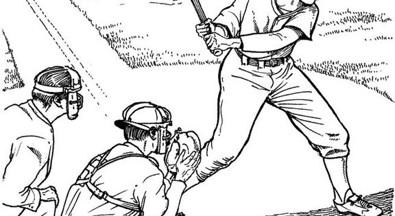 coloring pages of fields | Batter Up Baseball Coloring Page | Purple Kitty | Coloring ...
