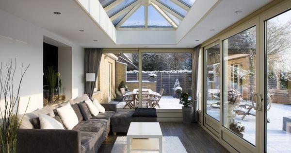 Leefveranda aluminium woonveranda met zicht op besneeuwde tuin de mooiste veranda 39 s - De mooiste verandas ...