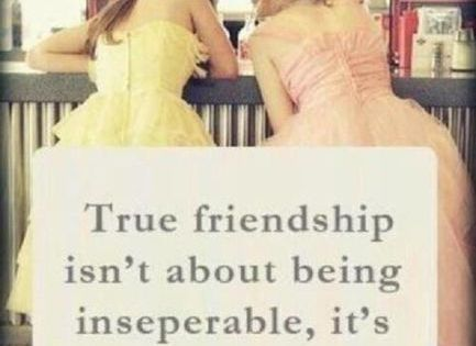 TRUE Friendship. So true!