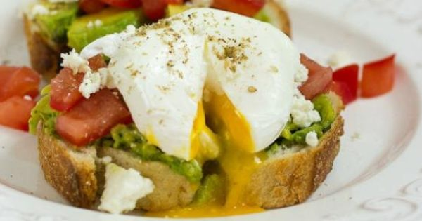 Avocado Tomato and Feta Toast with Poached Eggs | Recipe ...