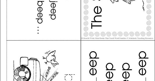 word family flash cards word family eep minibook