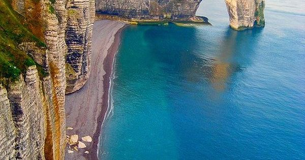 Etretat, Upper Normandy, France Étretat is best known for its cliffs, including
