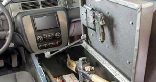 car gun safe vehicle weapon amp hidden storage pinterest