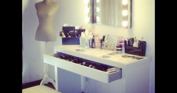 Mesa de maquillaje home style pinterest mesas y for Espejo tocador ikea