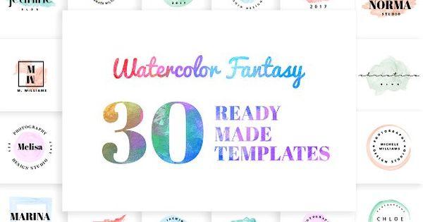 Watercolor Fantasy Logo Kit