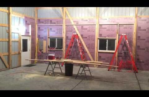 Workshop Insulating Exterior Walls Framing In The Pole Shed Youtube Pole Barn Insulation Pole Barn Barn Beams