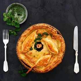 This Weeks Featured Masterchef Recipe Is Slow Roasted Lamb Pie With Sour Cream Pastry And Fresh Mint Sauce Lamb Pie Masterchef Recipes Slow Roast Lamb